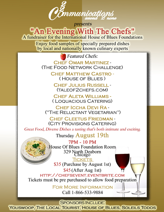A Night With The Chef's at The House of Blues