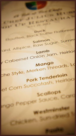 A Tale of Two Chefs » Blog Archive » The Menus of The Pop Up Experience